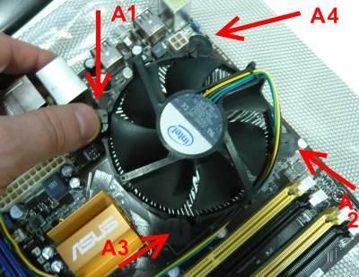 Decimo passo installazione CPU