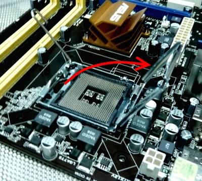 Terzo passo di installazione della CPU