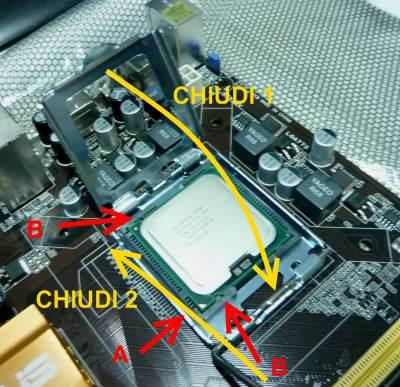 Ottavo passo di installazione della CPU